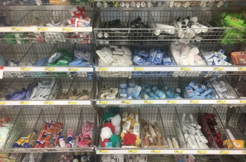 travel-sized toiletries in Target