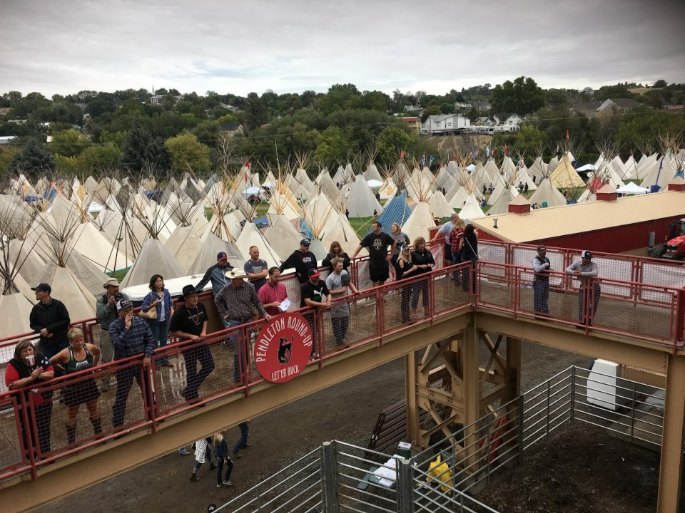 Pendleton Round-Up, tipi village, teepee, rodeo, girls' weekend