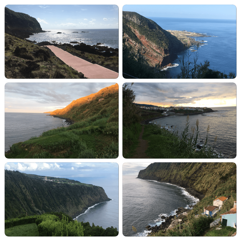 Azores photos São Miguel Island coastline vacation women travelers