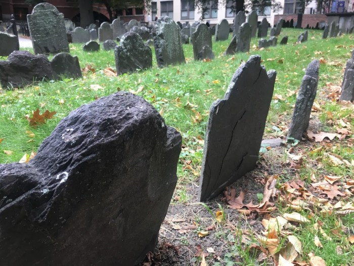 Boston historic cemetery