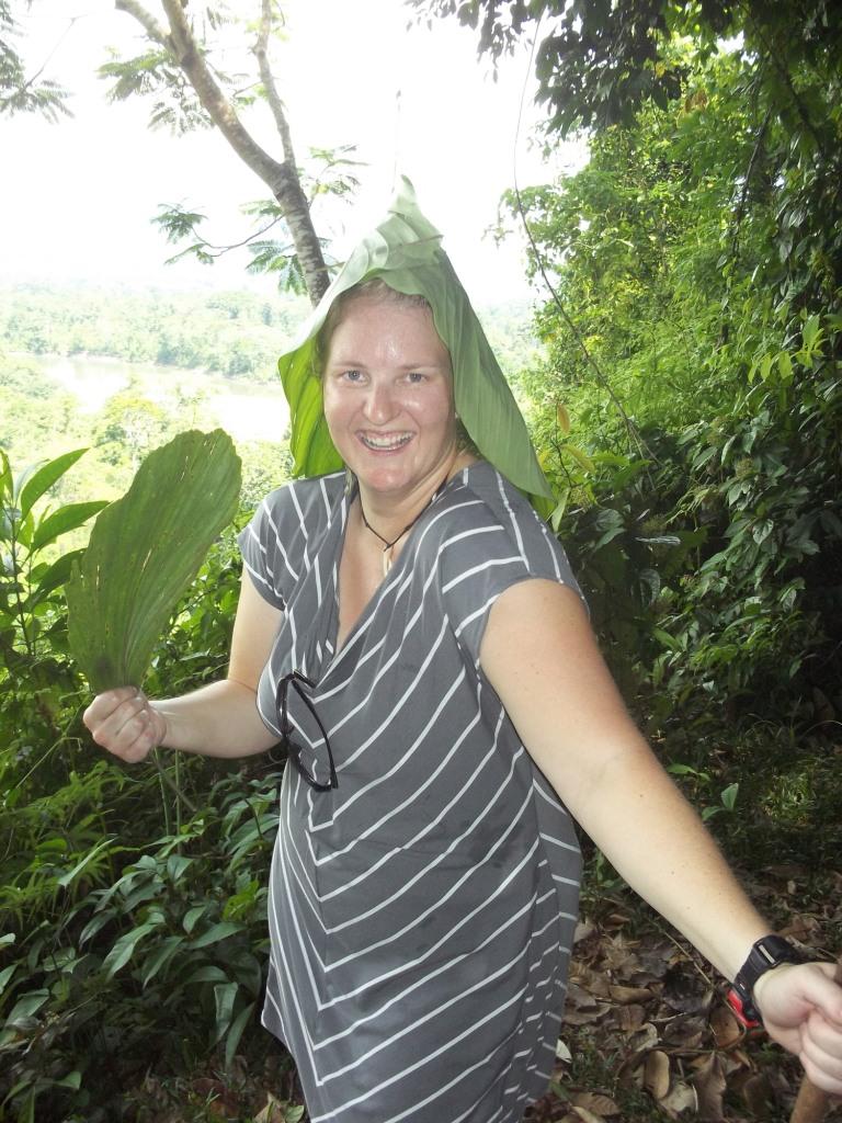 Having fun with leaves in Ecuador