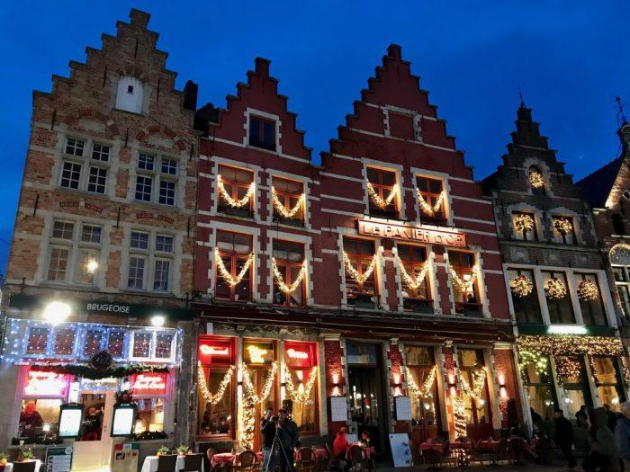 Christmas lights in Bruges