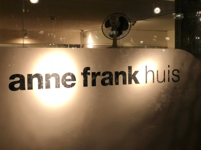 Anne Frank House Sign Amsterdam