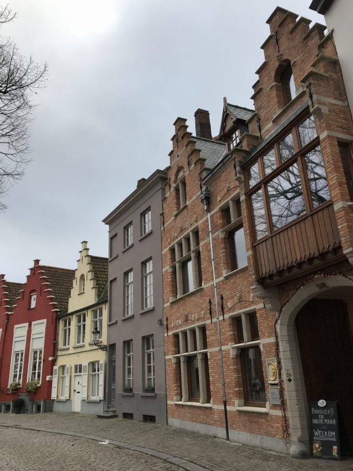 Bruges Belgium row houses