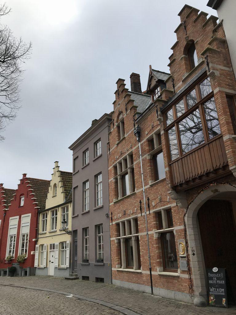 Bruges Belgium row houses