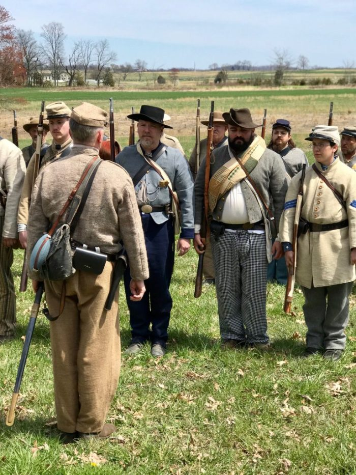 Reenactor soldiers at Gettsyburg places in DC to visit away from the Mall