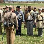 Reenactor soldiers at Gettsyburg