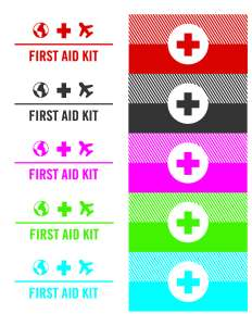 free printable DIY mini travel first aid kit labels avery