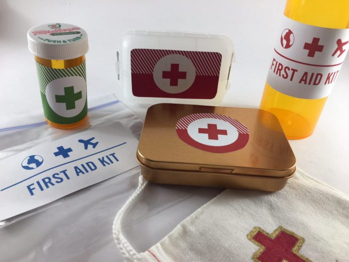 mini first aid containers