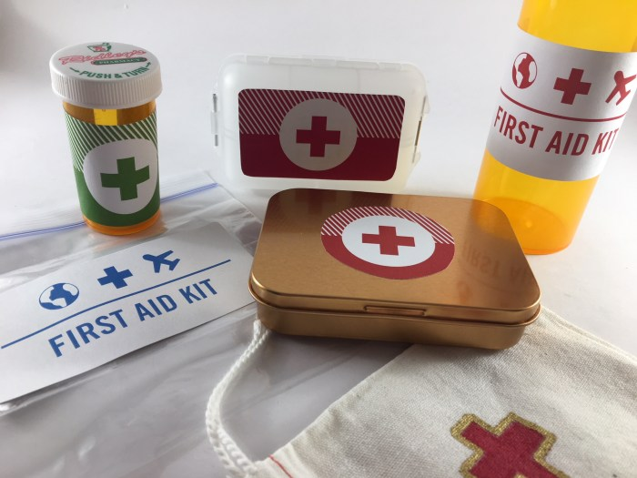 DIY mini travel first aid kit women travelers