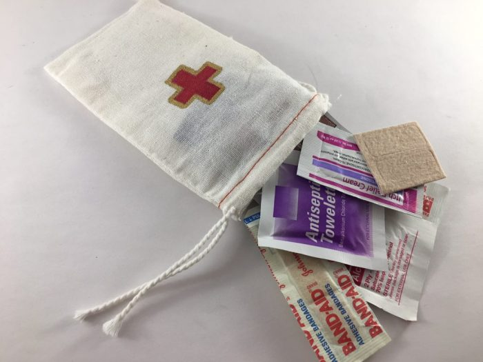 DIY first aid kit cloth bag