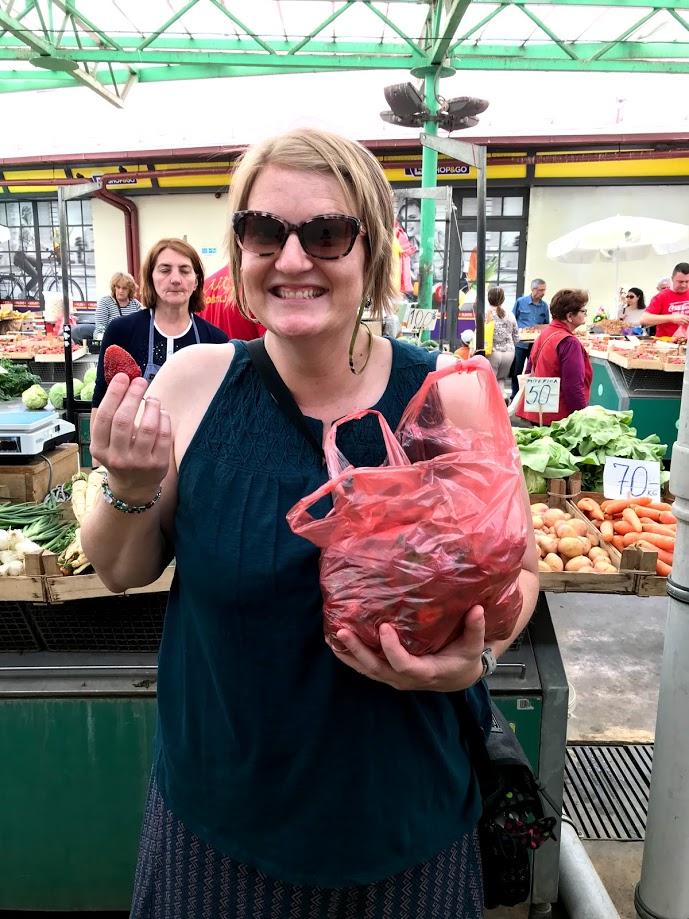 Belgrade Serbia farmers market strawberries foreign language travel tips