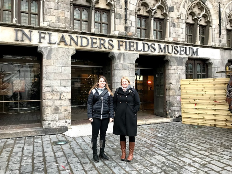 Christmas on the road, Europe, In Flanders Fields Museum