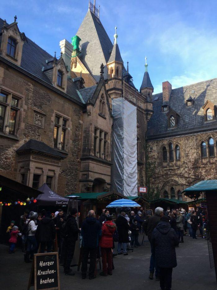 German Market in a Castle