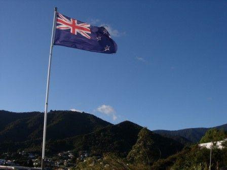 New Zealand road trip flag