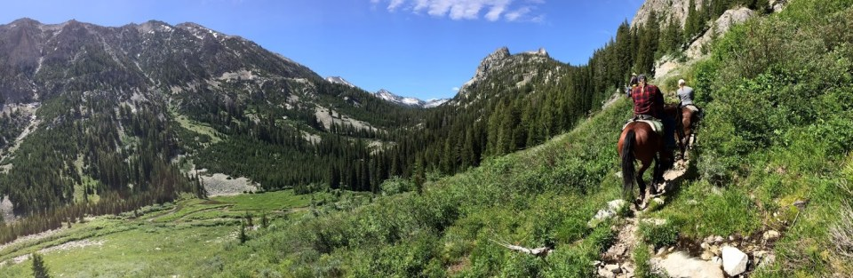 making the most of limited vacation horseback riding Sawtooth Mountains