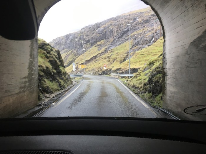 describe the Faroe Islands with tunnels