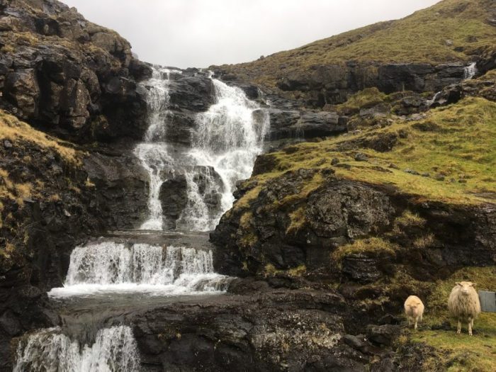 describe the Faroe Islands with waterfalls