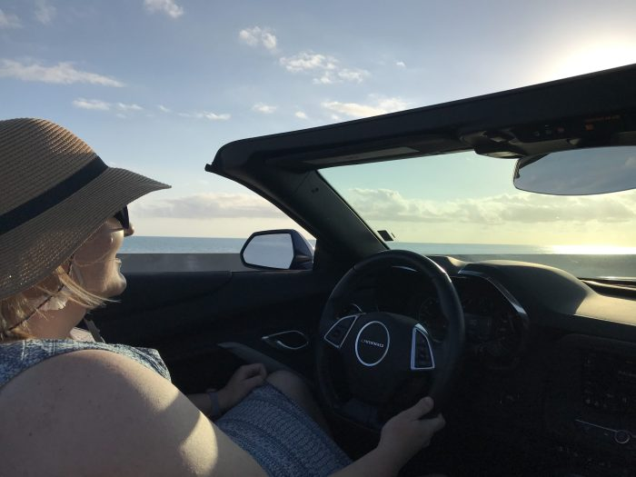 Driving a camaro on the 7 mile bridge florida keys
