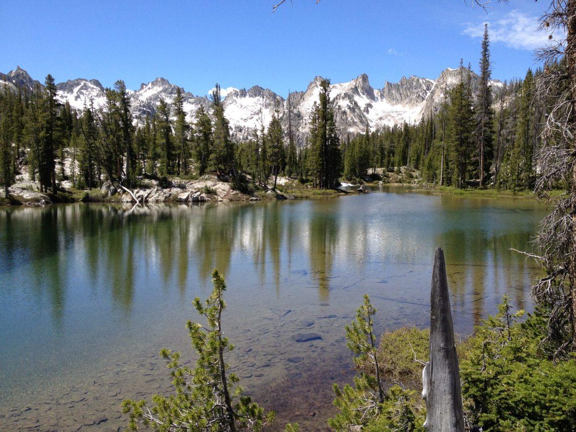 Sawtooth Mountains and lake