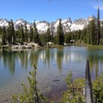 Sawtooth Mountains and lake