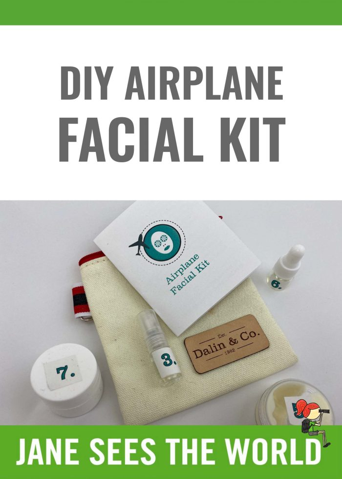 DIY airplane facial kit Pinterest
