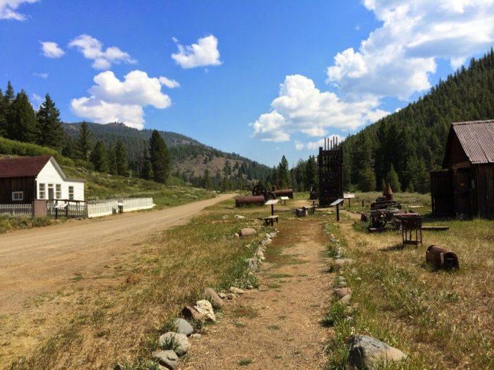 Custer Idaho Lank of the Yankee Fork State Park