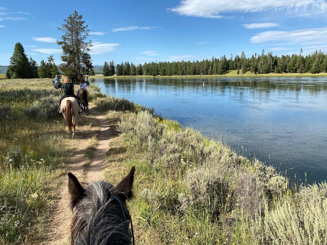Horseback riding at Harriman State Park in Idaho