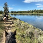 Horseback riding at Harriman State Park in Idaho