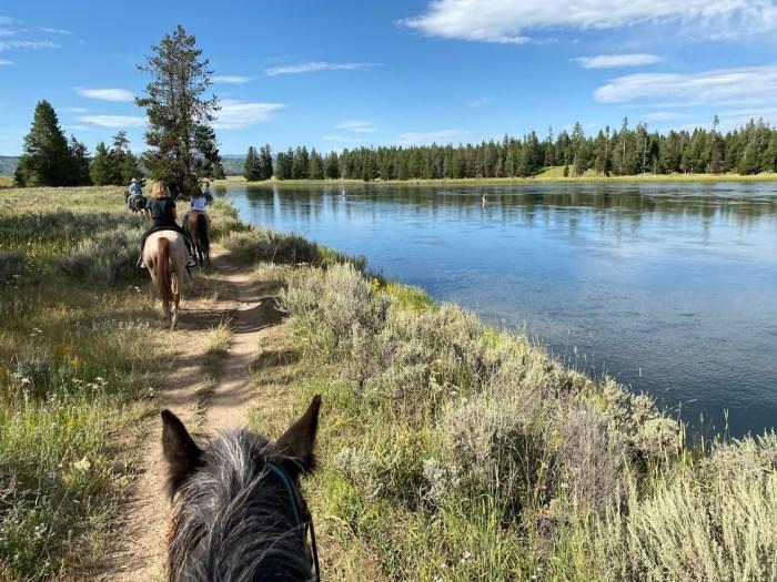 Horseback riding at Harriman State Park of Idaho