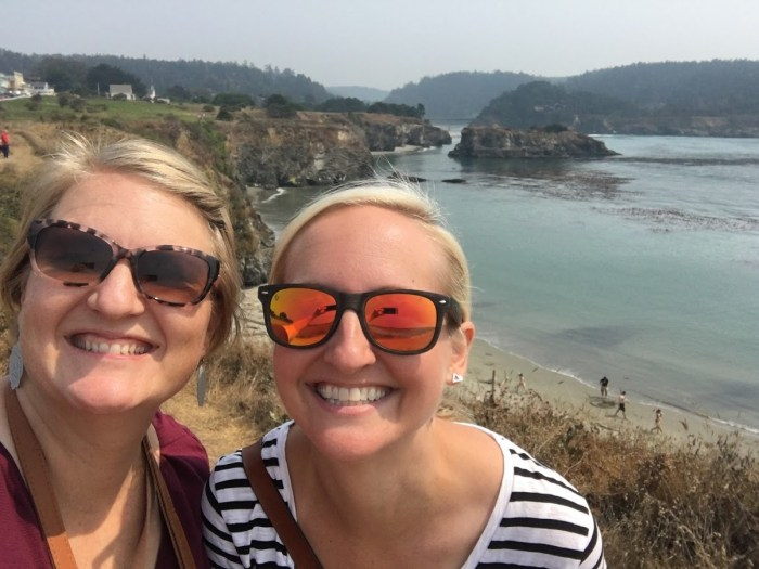 girls' weekend, two friend, California north coast