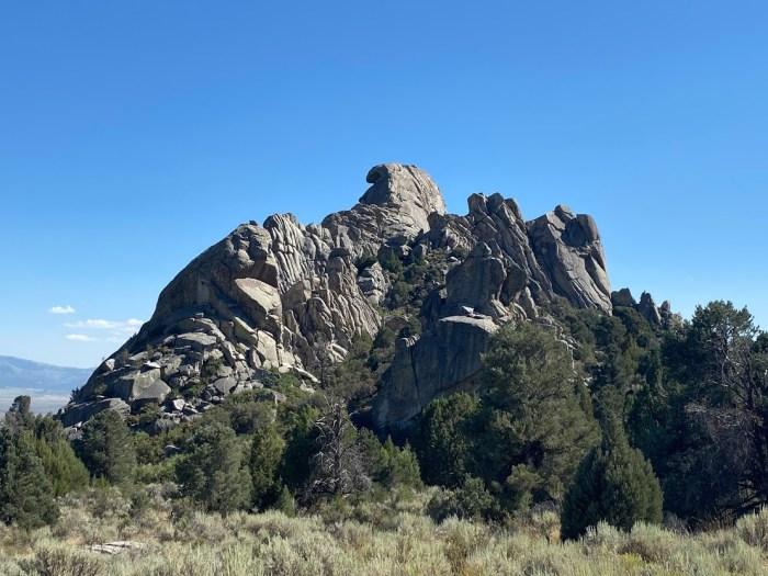 Folded rock formation in Idaho