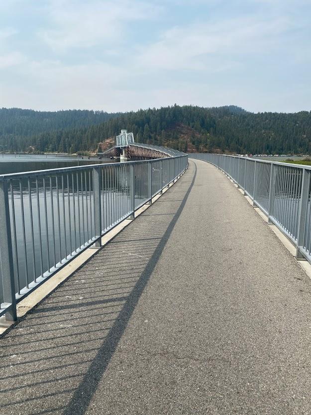 Chatcolet Bridge on Trail of the Coeur d'Alenes