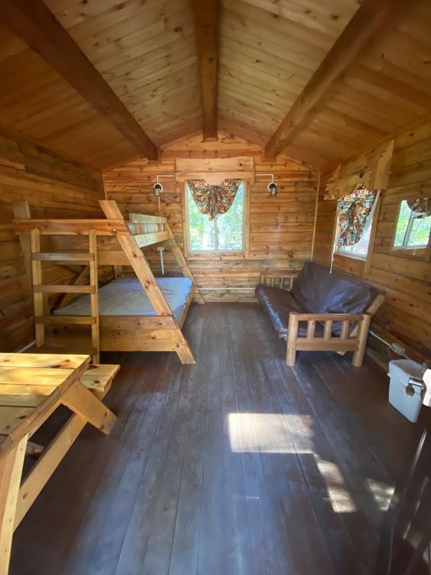 Dworshak State Park cabin interior