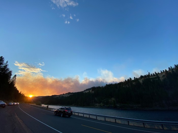 Wildfire sunset in Idaho