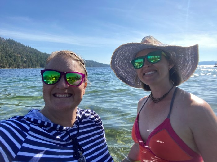 Two friends on the lake in northern Idaho.