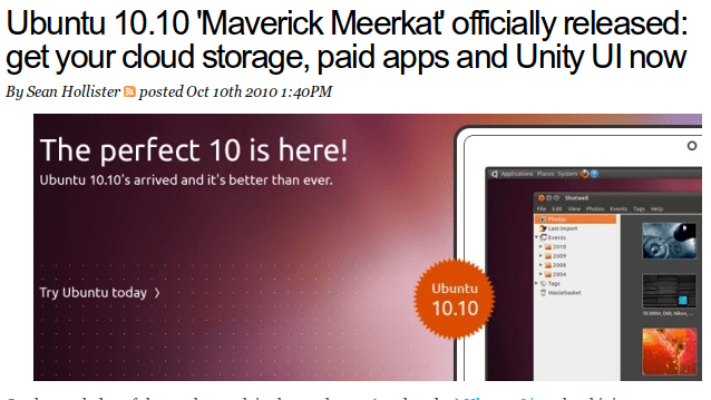 Returning to Ubuntu, Maverick Meerkat