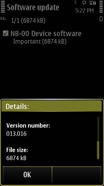 About PR 1.1 for the Nokia N8