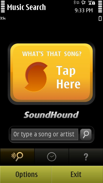 SoundHound on the Nokia N8