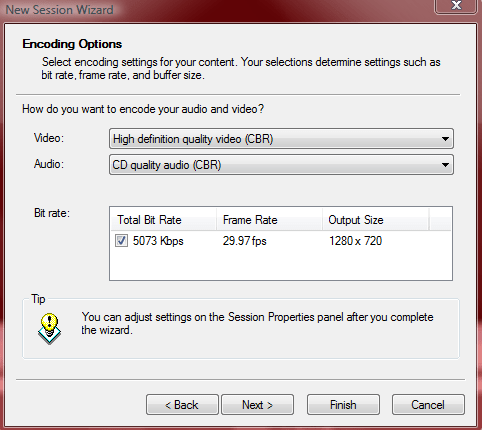 Choosing Encoding Options