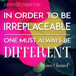 Inspirational Meme About Being Different - janet & clarence