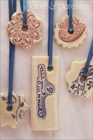 Salt Dough Gift Tag Ornaments