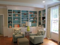 Painted Bookcases | Janet Brown Interiors