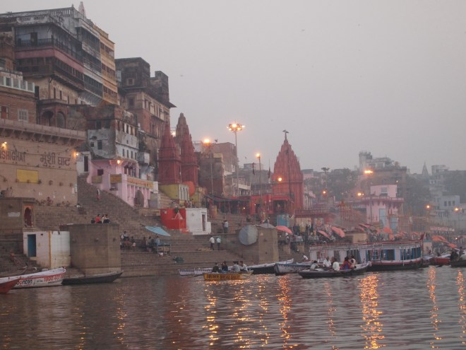 Sunrise on the Ganges, Varanasi,  India