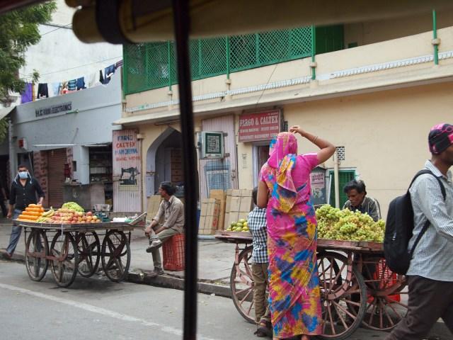 Buying Grapes in Jaipur