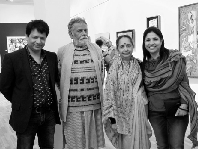 Delhi Gallery with Ravindra and exhibiting artists