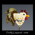 Swirly Bird Rooster Bead