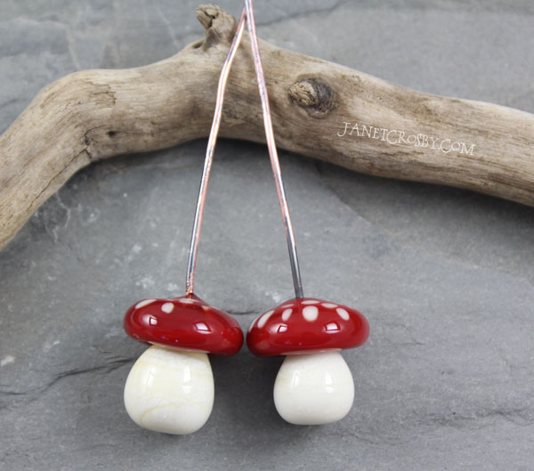 Glass Mushroom Headpins