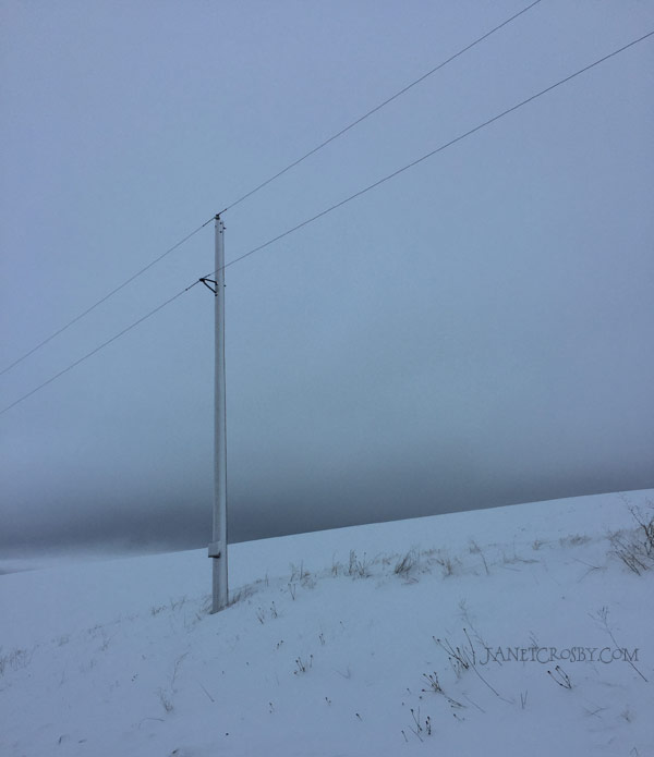 Snow Road - Power Pole