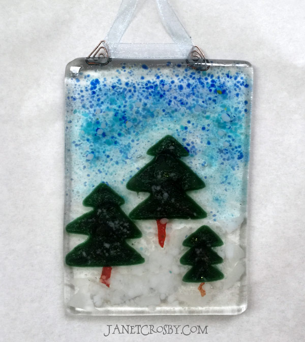 Fused Glass Forest Suncatcher